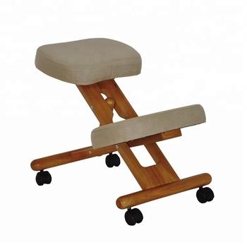 Bürostuhl ergonomisch holz  Holz-kniestuhl / Ergonomischer Design-bürostuhl / Hochwertige Stoffstühle  Zum Tippen - Buy Holz Knie Stuhl,Ergonomischen Bürostuhl,Komfortable ...