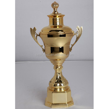 Wholesale Big Gold Plated Sports Souvenir Metal Trophy Cup Trophies