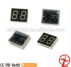 "0.39"" 2 dight grey face SMD led display 7 segment smd display"