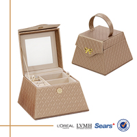 Special Portable Trapezoid Shape Leather Antique Jewelry Box For ...