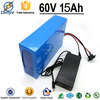 Rechargeable Customs 3.7V 18650 Cell 60v 15Ah lithium battery pack 12v 30ah with Charger BMS