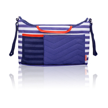 Double stripe pram buggy baby stroller caddy bag organizer