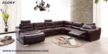 U Shape Sectional Sofa With Recliner For Living Room