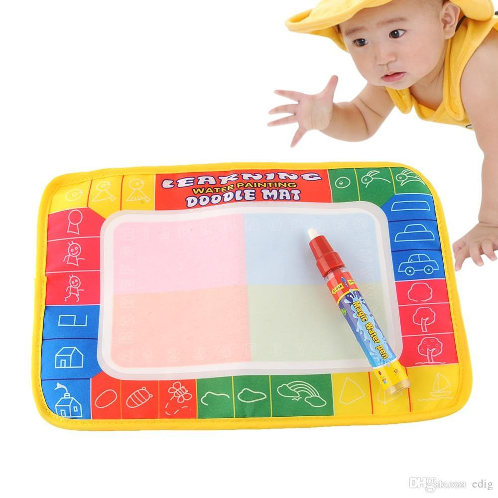 DOODLE Magic 29X19cm Water Drawing Painting Writing Learning Mat Board with Magic Pen Doodle creative Toy Baby Safe Indoor Gift