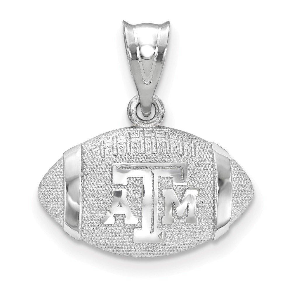 Texas A&M University Aggies Sterling Silver Football Logo Pendant 1.54 gr