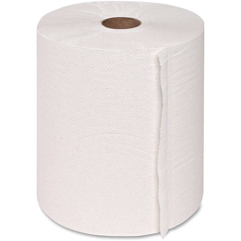 "Genuine Joe 22700 Hardwound Roll Towels,1.82"" Core,7-7/8""x800',6 Rolls/CT, WE"