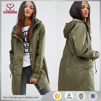 Alibaba manufactory outwear jacket long trench ladies winter coats for women