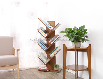 Natural Bamboo Creative Tree Shape Bookshelf