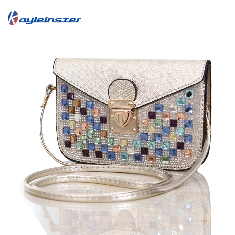 New 2015 Summer Diamond Women Messenger Bag Mini Shoulder Diagonal Small Bag Phone Bag Fashion Luxury Single Shoulder Hasp Bag