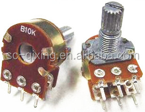 WH148 potentiometer carbon rotary potentiometer switch for PCB
