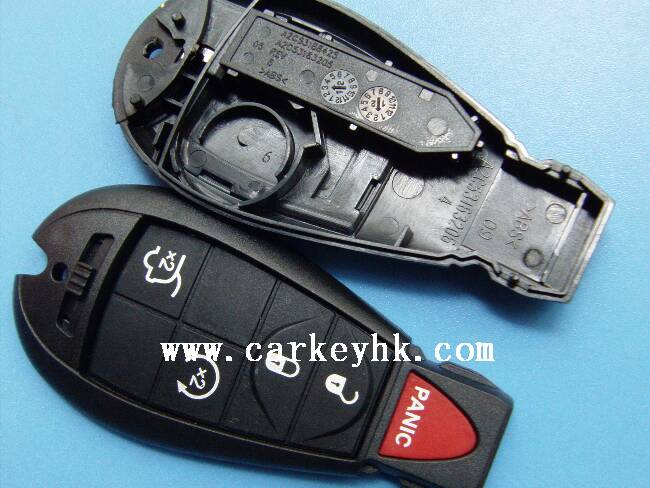 Top supplier Chrysler 4+1 button smart remote key case with small key chrysler key shell