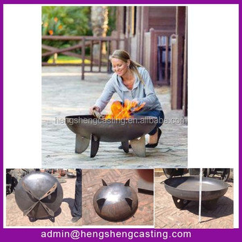 2016 New Products Garden Treasure Wood Burning Cast Iron Outdoor Fire Pit