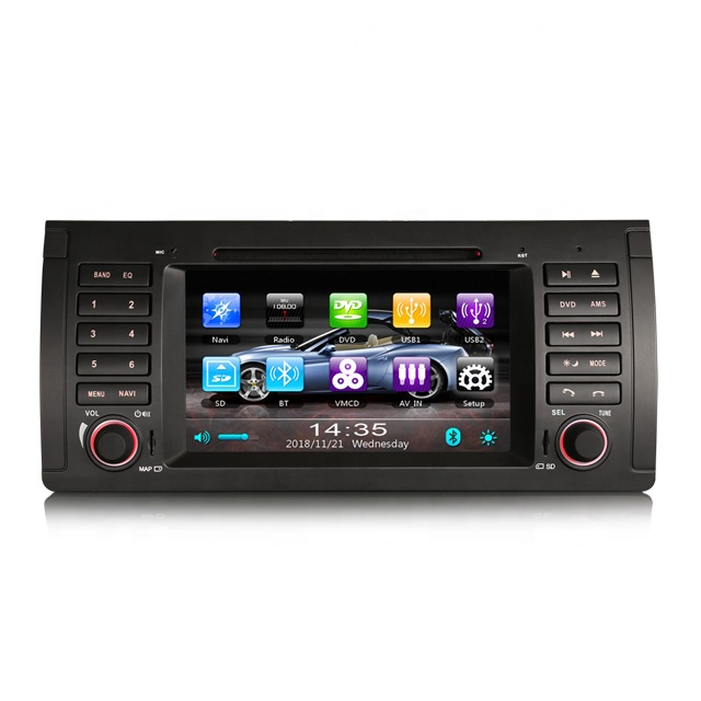 2019 Nova ES739B 7 Polegadas 3G SWC SD RDS DVD DVR MICROFONE Estéreo Do Carro DVD Player Do Carro para BMW 5er E39 E53 M5 X5