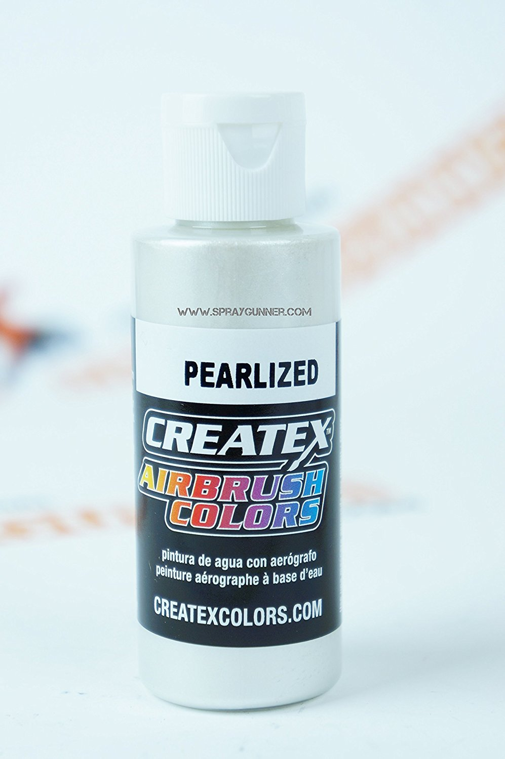 Createx Airbrush Colors Pearlized 5310 Pearl White 2oz. paint. by SprayGunner