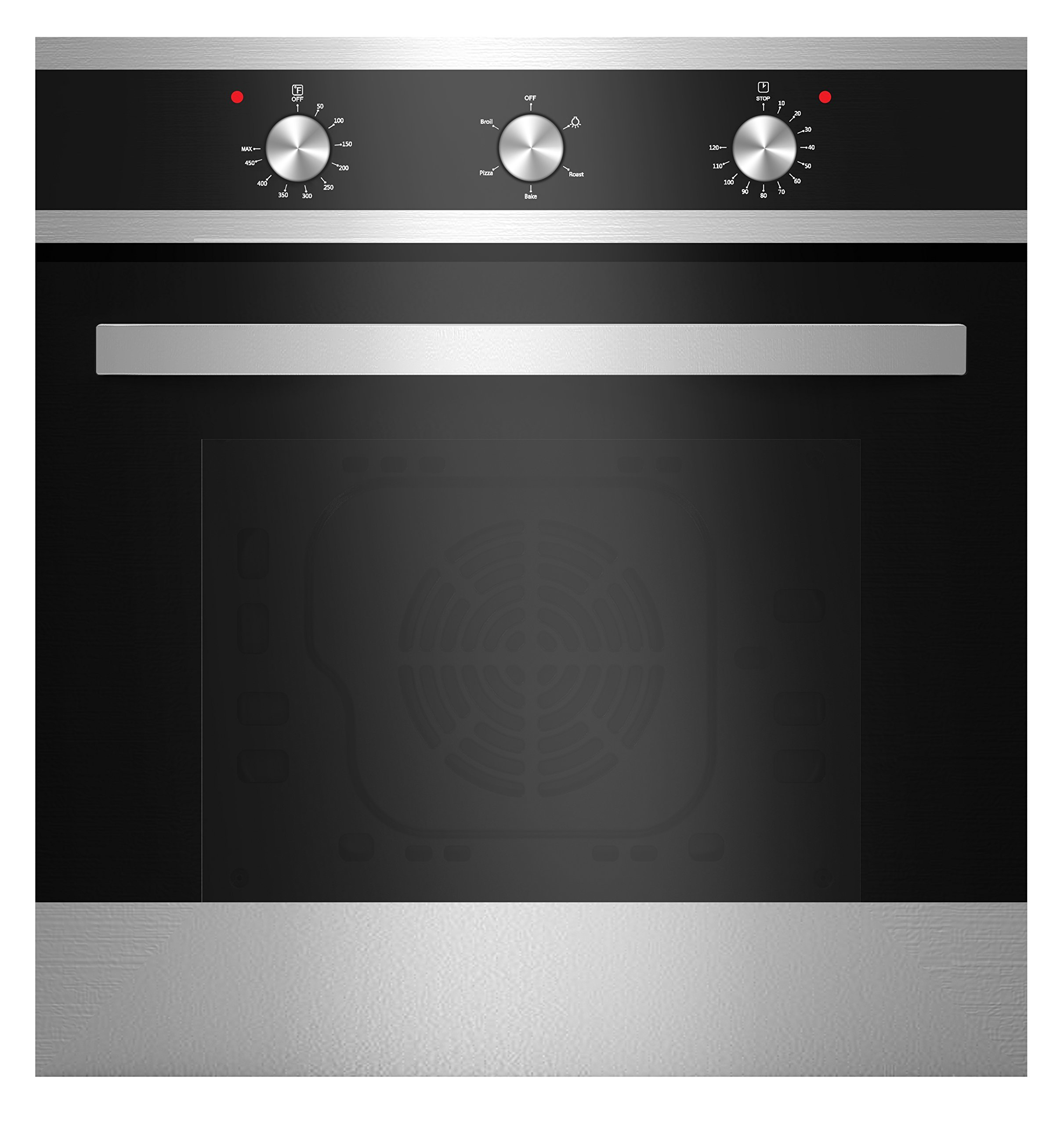 "Empava 24"" 4 Basic Cooking Functions Economy Electric Built-in Single Wall Oven EMPV-24WOA16"