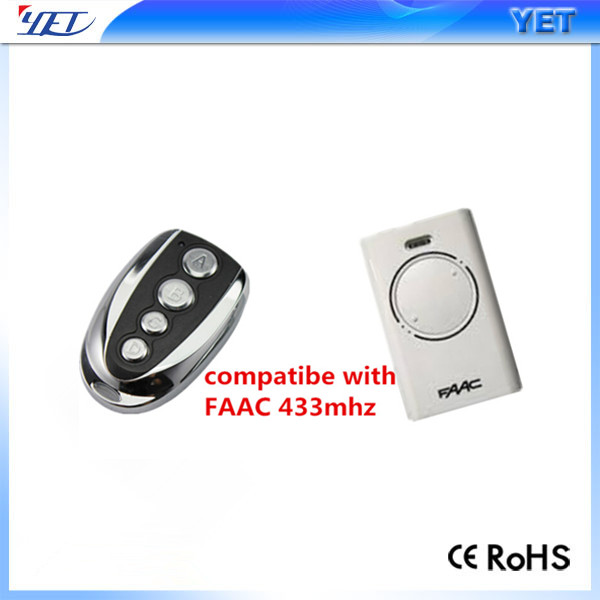 gate automatic faac 433mhz compatible remote control YET003