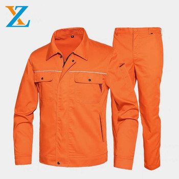 China factory direct cotton/polyester fabric work uniform for men  wholesale industrial workshop suit