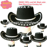 wholesale black fedora stetson hat wool felt cowboy new fashion
