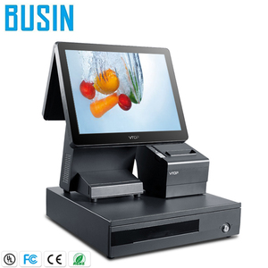 Retail 15 inch touch screen pos system / pos terminal / cash register with 80mm thermal printer