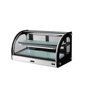 Manufacturer countertop glass door hot cake display showcase for cake