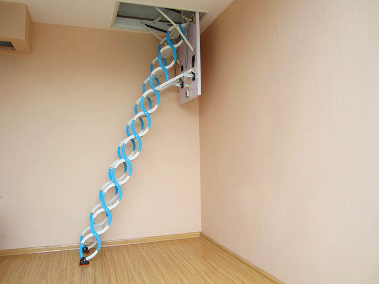Electric Remote Control Folding Telescopic Loft Ladder,attic Stair