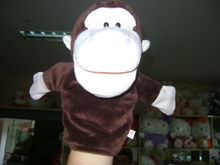 30cm promotional plush brown monkey hand puppet animal toy hand glove puppet