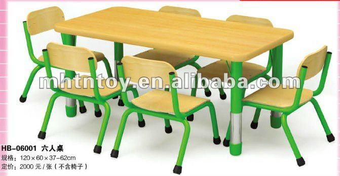 Reposteria preescolar ni os mesa de estudio de madera for Mesas estudio ninos
