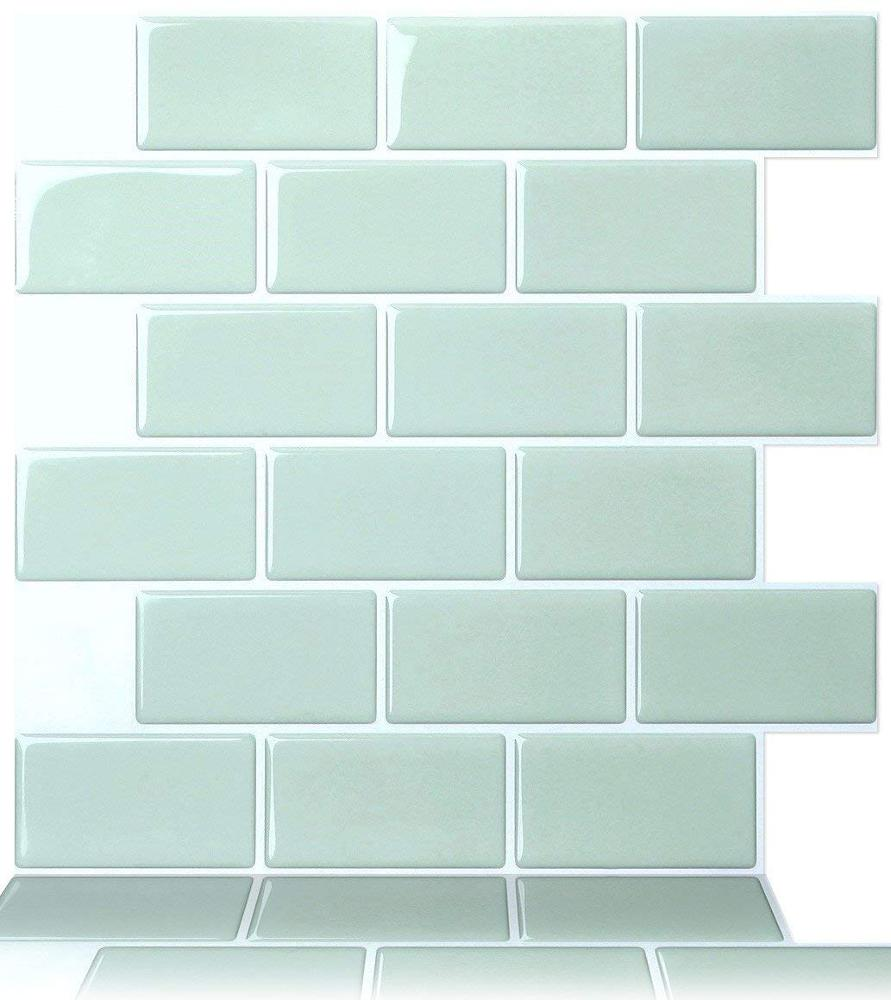 - 4 Pack Vinyl Mosaic Tiles Peel And Stick Self Adhesive Backsplash