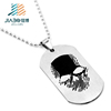 Jiabo custom engraved blank metal dog tag with ball chain