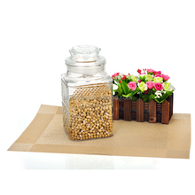 cheap square glass herb storage jars with lids