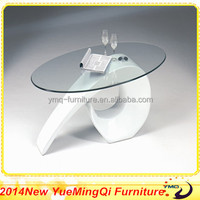 Modern Round Clear Painted Glass Coffee Table From Yue Ming Qi Furniture
