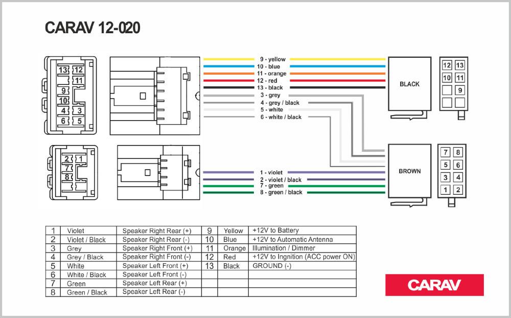 Carav 12 020 Iso Radio Adapter For Nissan 2003  Wiring