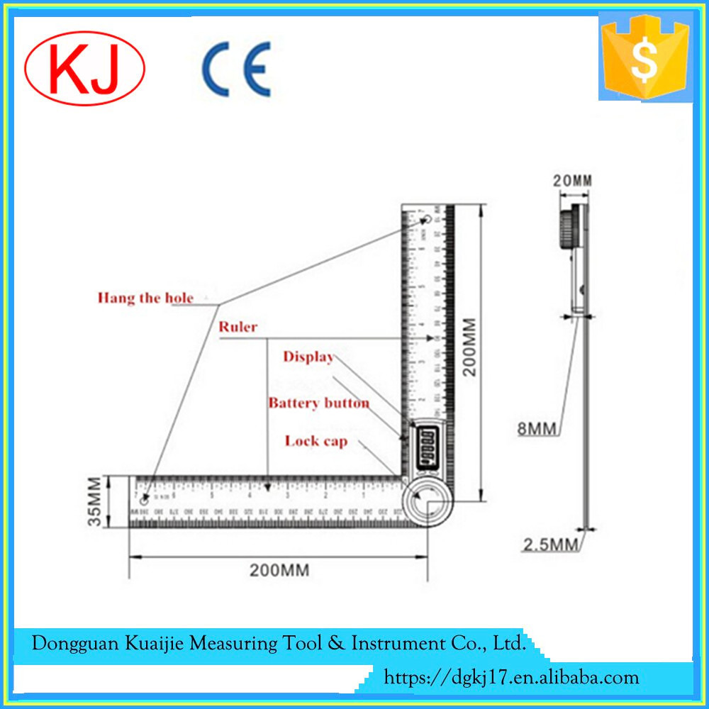 Stainless steel digital angle measurement