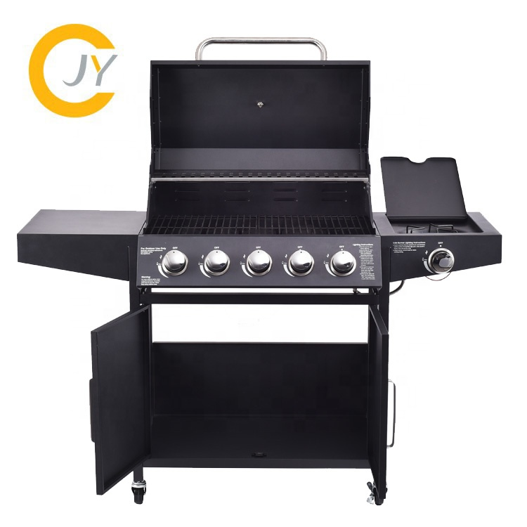 OEM service rvs gas barbecue grill draagbare indoor commerciële steen gas bbq grill