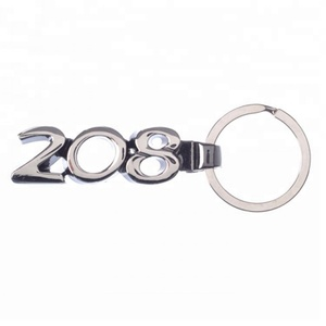 Hot sale custom made personal silver metal number keychain
