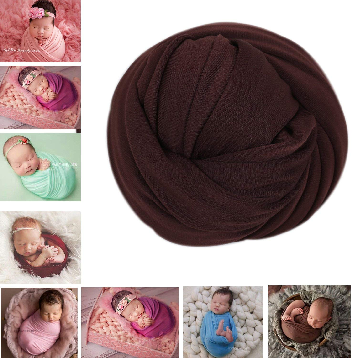 Newborn Photography Props Boys Baby Girls Photo Outfits Soft Stretchy Wrap Blanket Swaddle Backdrops for Photo Shoot