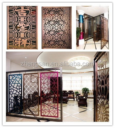 Room Divider Partition colored stainless steel art screen room divider partition for