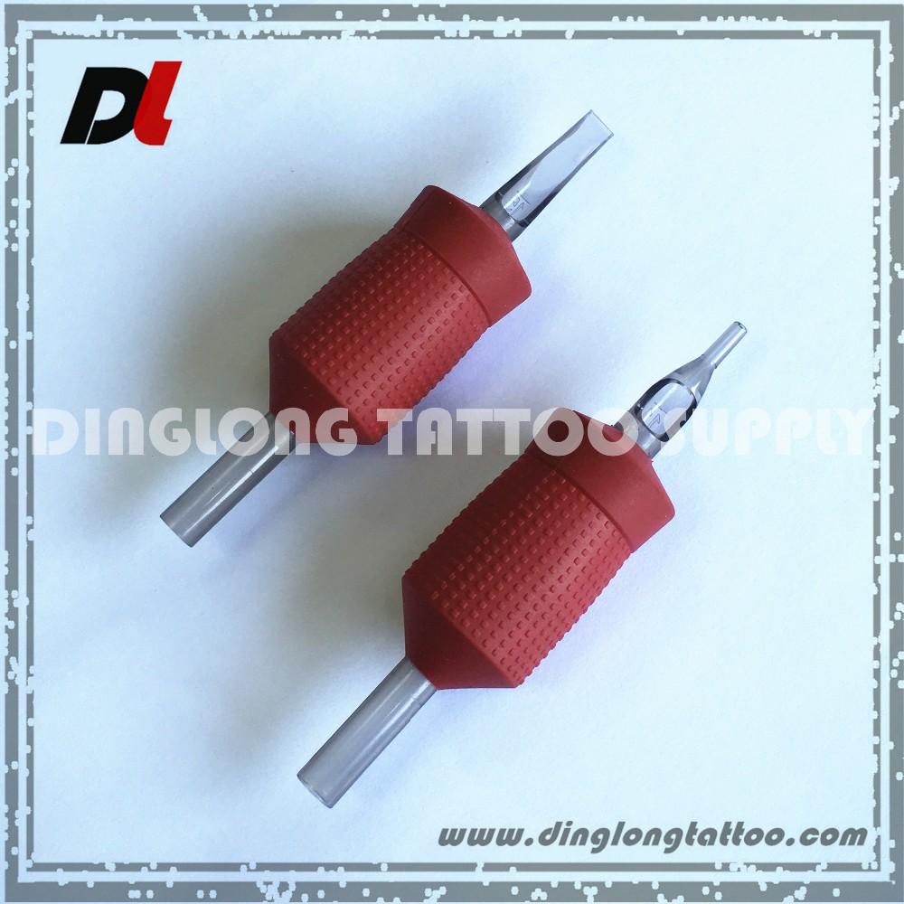 """9/8 """"Wegwerp Rode Plastic Siliconen Tattoo Schuim Cartridge Grip Tattoo"""