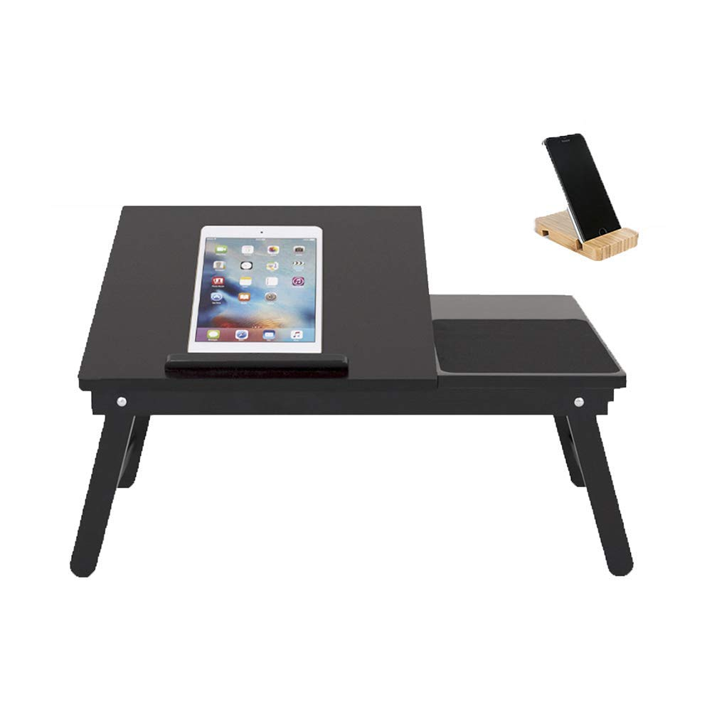 TH Foldable Laptop Table Computer Desk Bed Use Small Table Dorm Room Lazy Desk