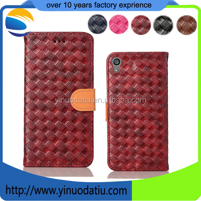 Factory supply Leather flip case for Sony Xperia C6 Mobile Phone Accessories