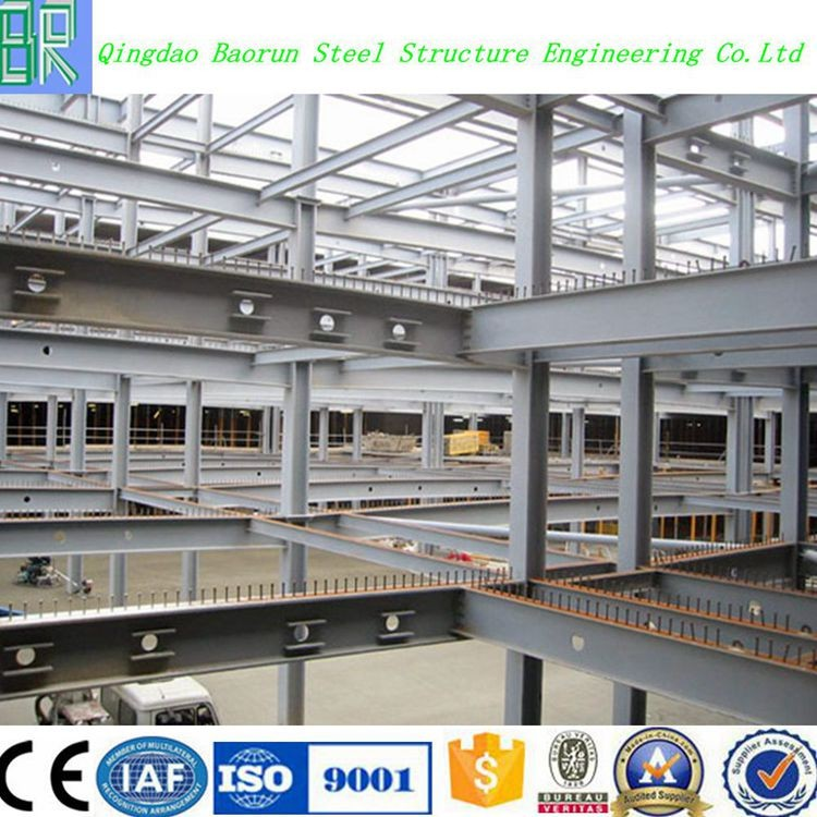 High Quality Prefab Two Story Steel Structure Warehouse