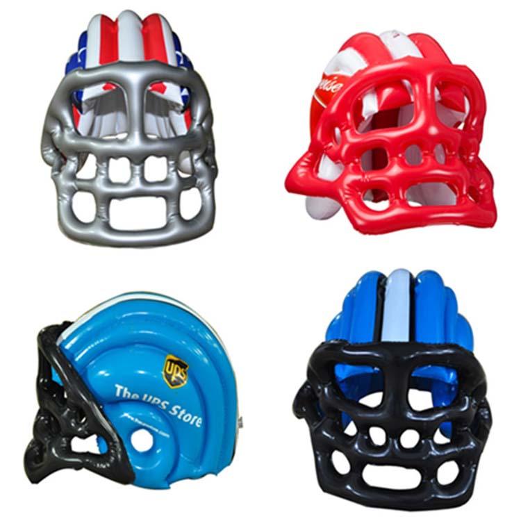 Tùy chỉnh thực hiện lớn nhựa bóng đá đội mũ bảo hiểm inflatable, inflatable bóng đá đội mũ bảo hiểm đường hầm