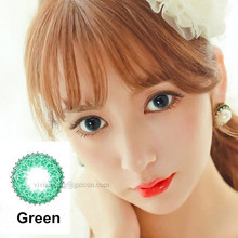 Muse wholesale green colored contact lenses soft color lens