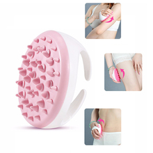 Rotating 2017 handheld silicone waterproof anti Cellulite Massager and Remover Brush Mitt & portable manual body slim massager