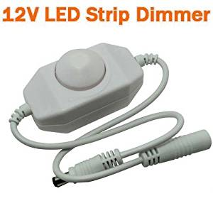 12-24v DC LED Strip PWM Dimmer on Wire Knob Operated White Color Plug & Play