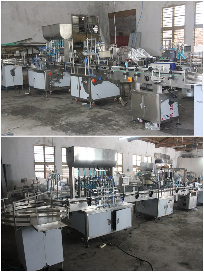 Automatic multi nozzles strawberry jam / butter sauces filling machine line