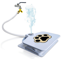 Dog Water Fountain Automatic Dog Waterer Step on Outdoor fountain Fresh Cold Drinking Water