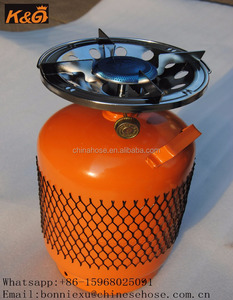 JG Outdoor Picnic Gas Stove with Gas Cylinder,Mini Portable Backpacking Stove Burner,Camping Single Burner Gas Stove