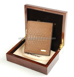 Customized Luxury Wooden Wallet Packaging Box