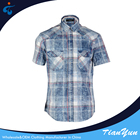 Factory supplier different kinds of denim stylish pure plaid shirt cotton